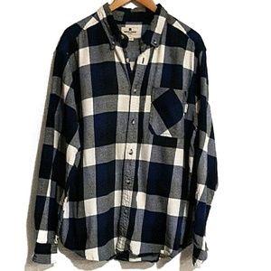 Woolrich Cotton Flannel Blue Check L